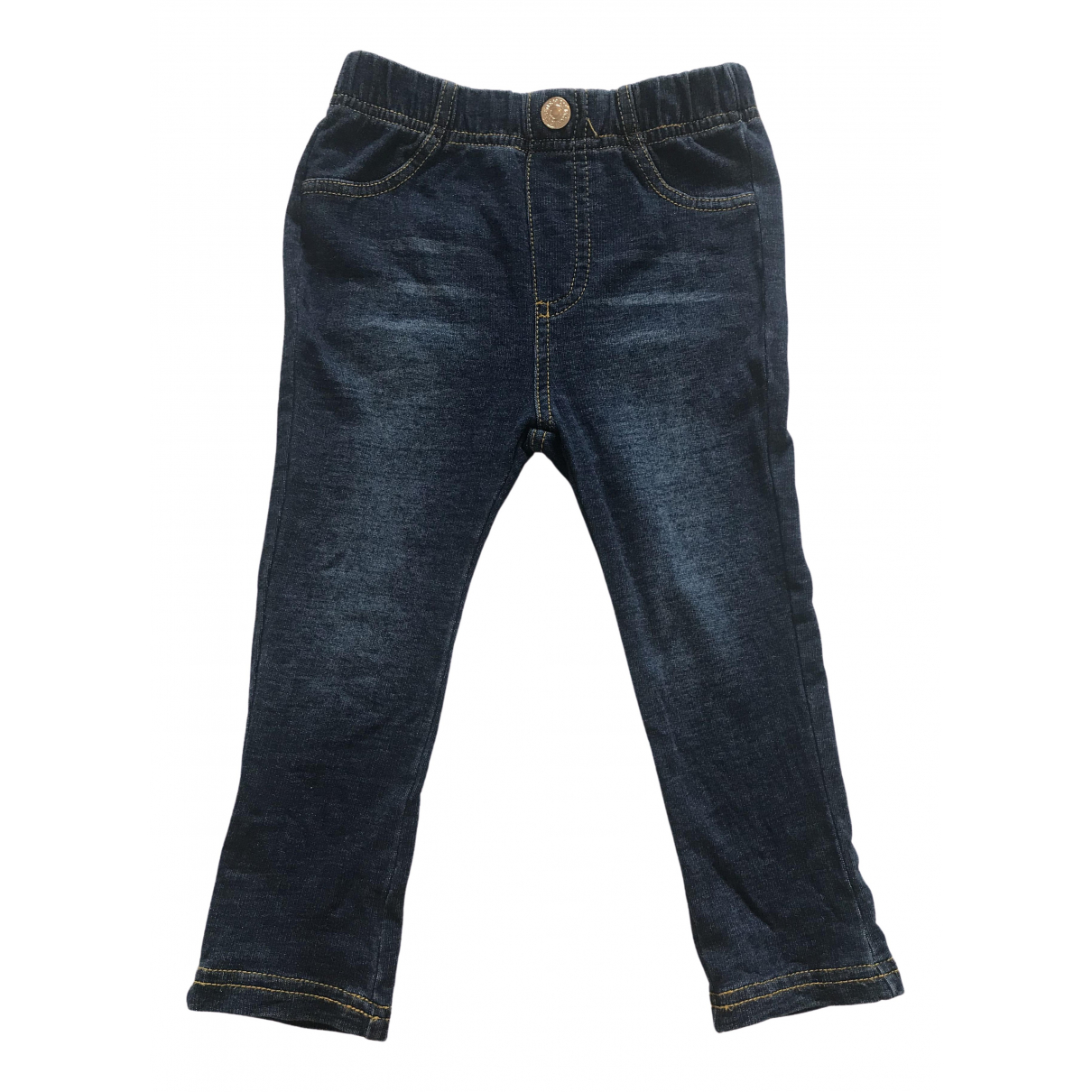 7 For All Mankind \N Blue Cotton Trousers for Kids 18 months - until 32 inches UK