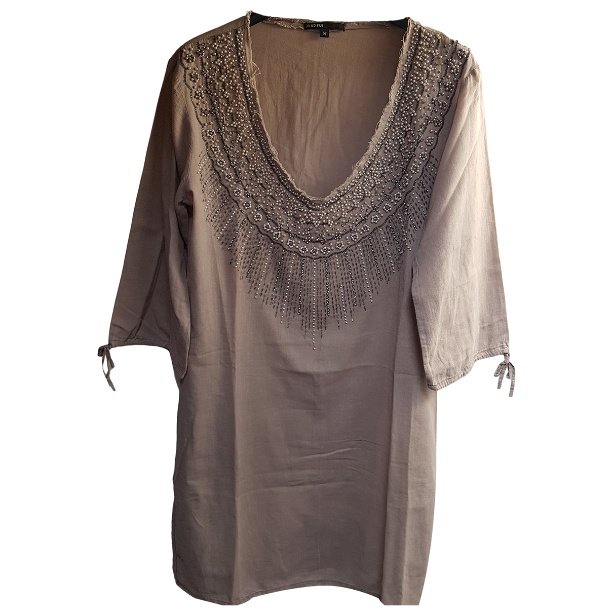 Autre Marque N Beige Cotton dress for Women M International