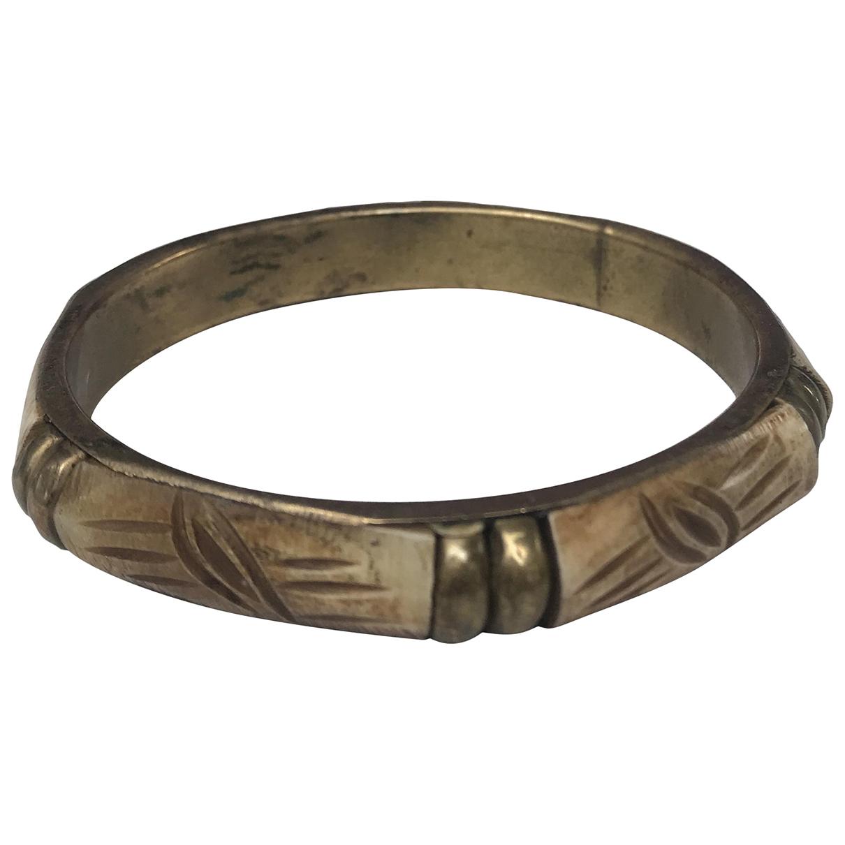 - Bracelet Jonc pour femme en metal - marron