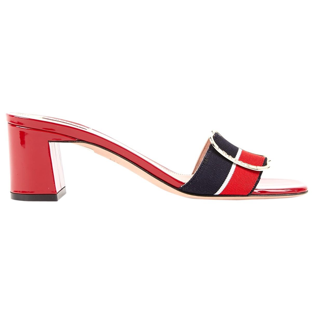 Bally \N Red Cloth Heels for Women 38 EU