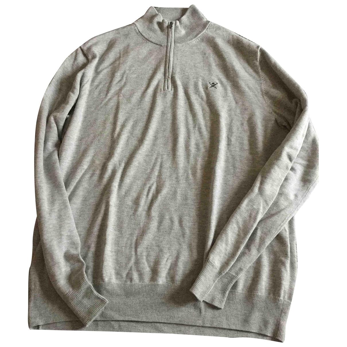 Hackett London \N Pullover.Westen.Sweatshirts  in  Grau Baumwolle