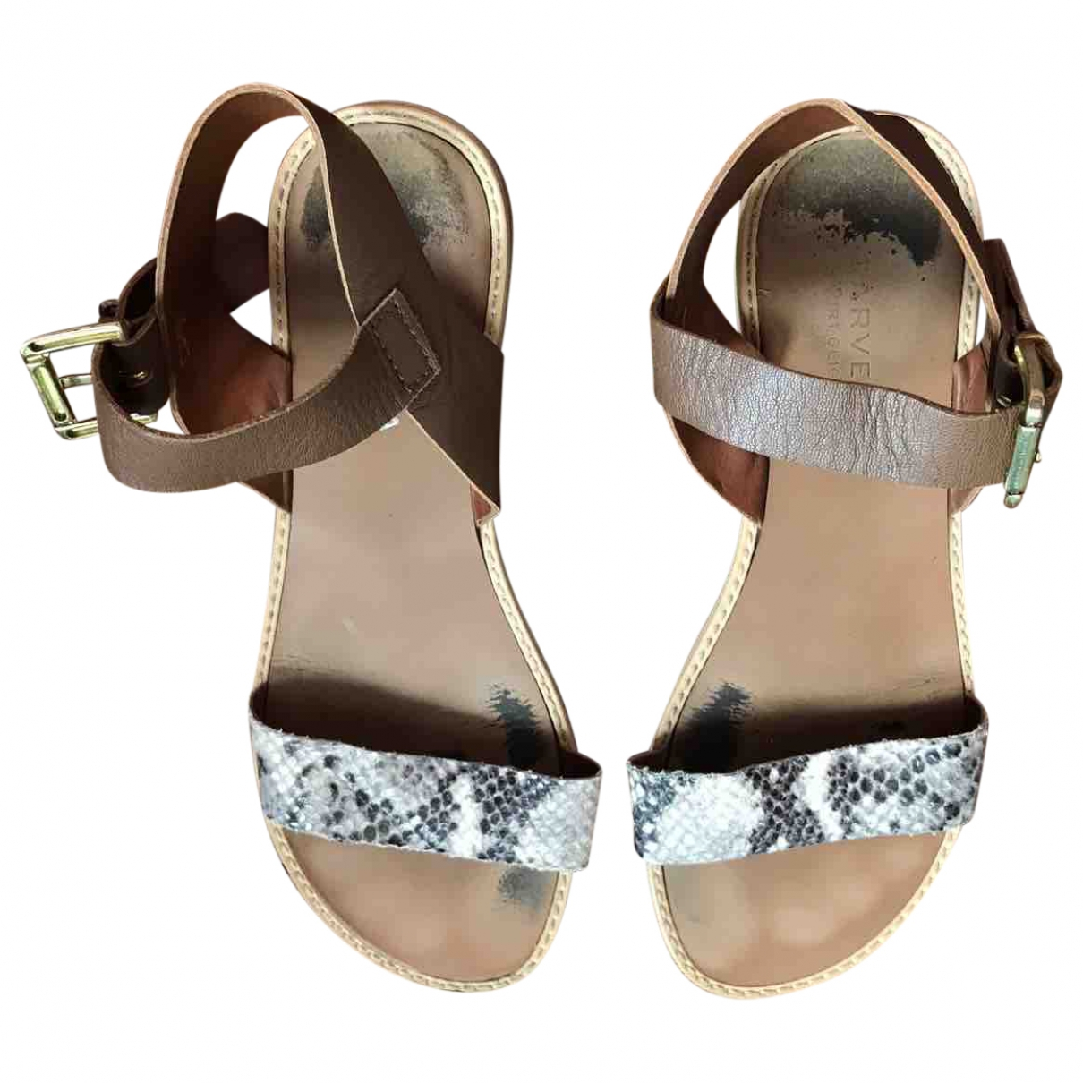 Non Signé / Unsigned \N Brown Leather Sandals for Women 4 UK