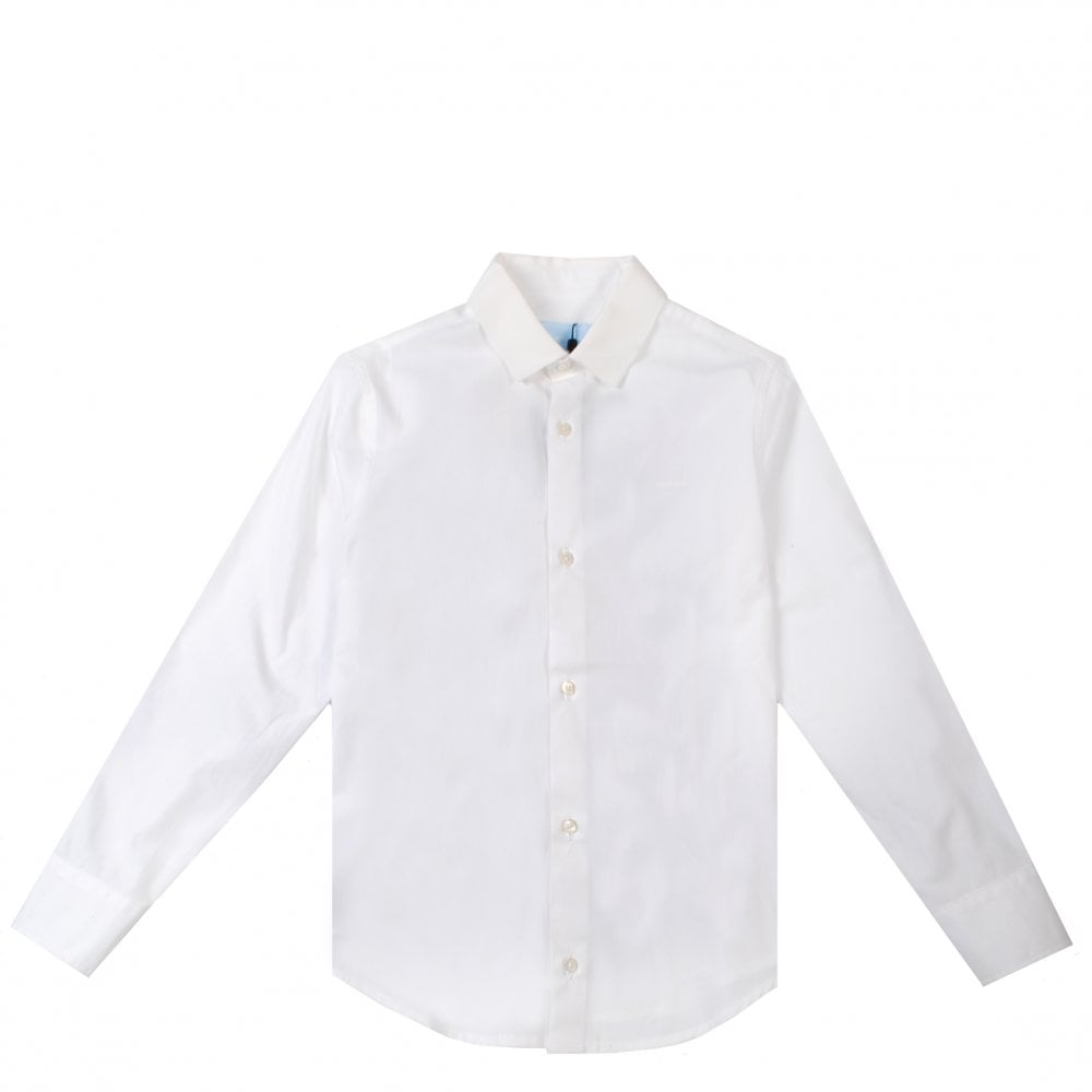 Lanvin Kids Printed Shirt Colour: CREAM, Size: 12 YEARS