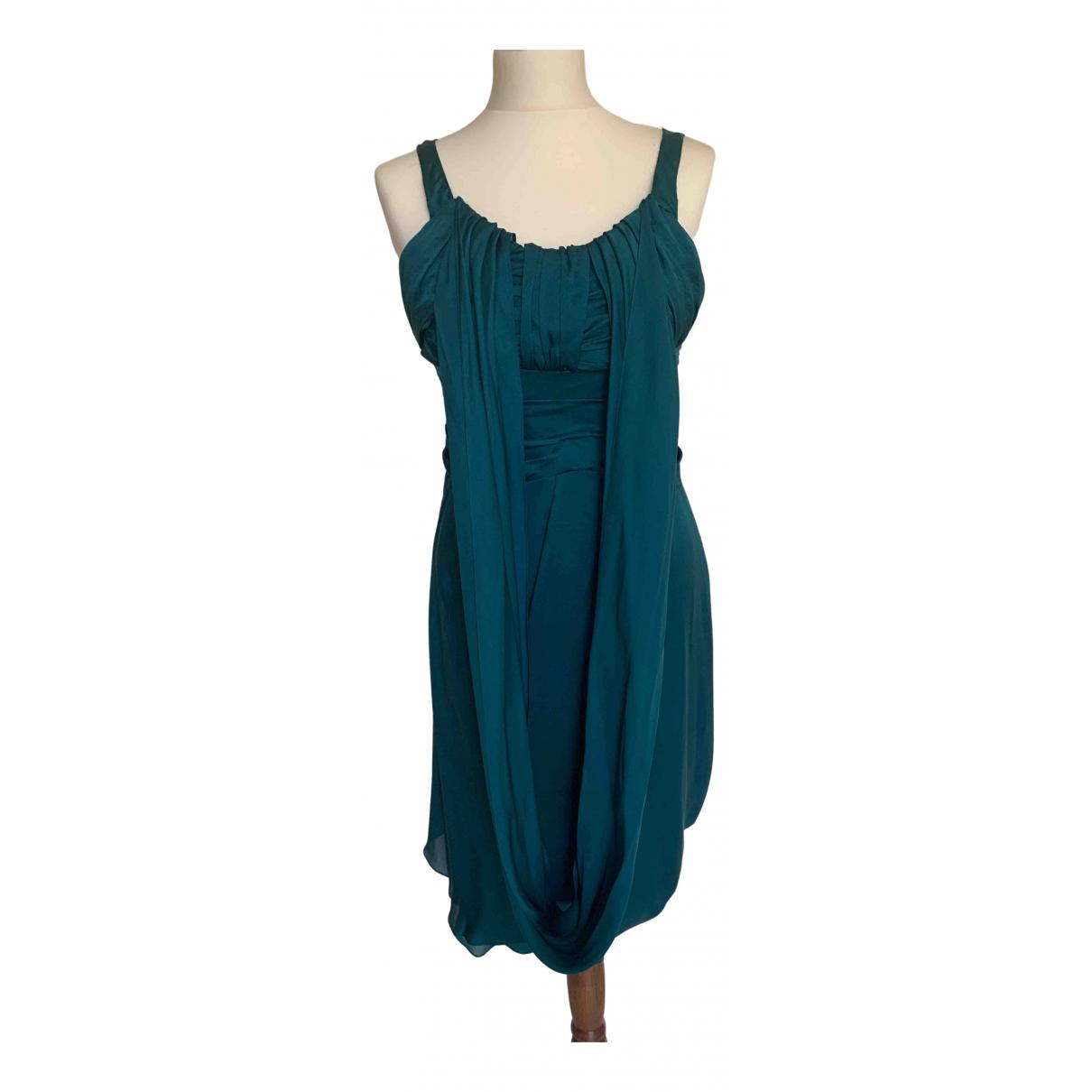 Celine \N Kleid in  Tuerkis Seide