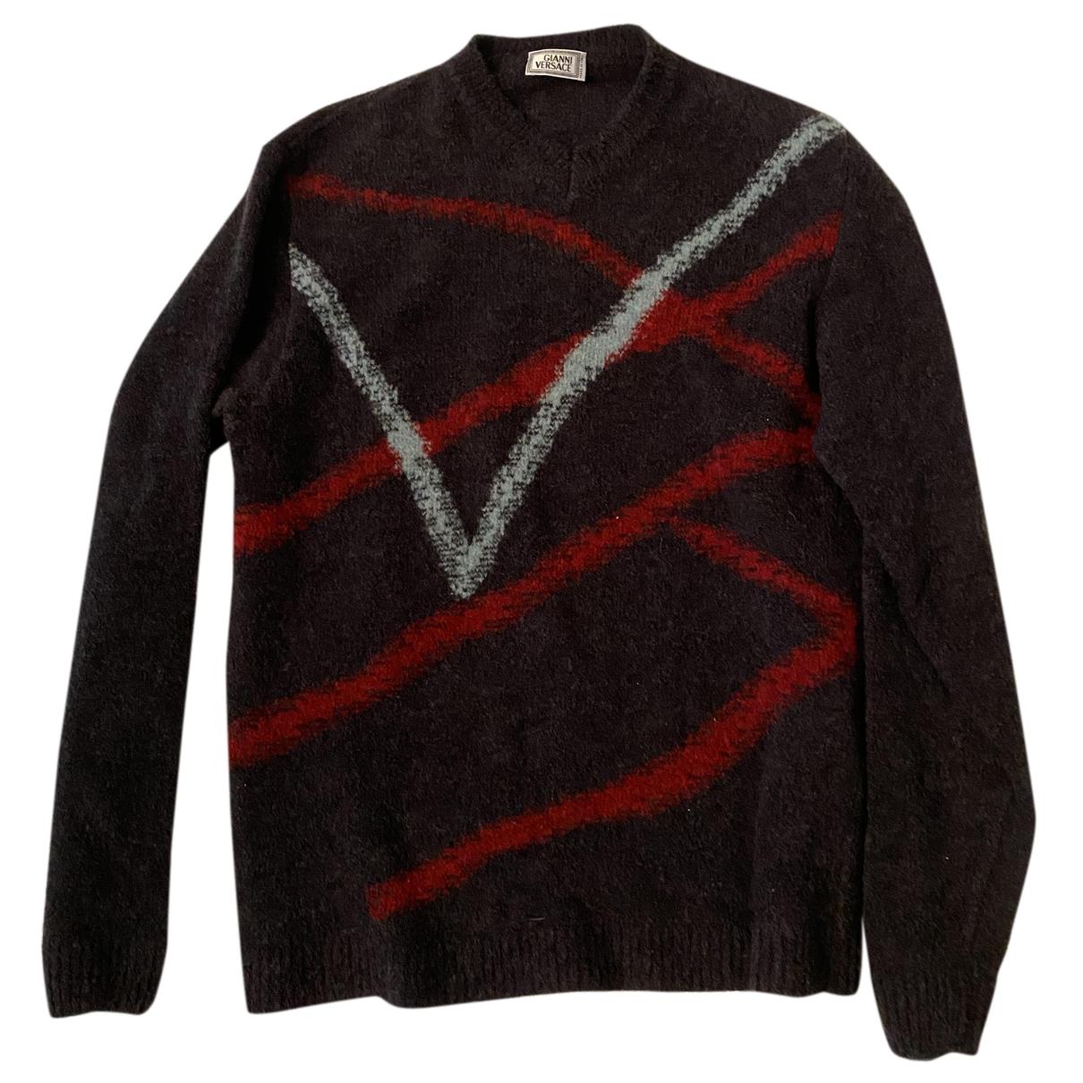 Gianni Versace \N Pullover.Westen.Sweatshirts  in  Grau Wolle