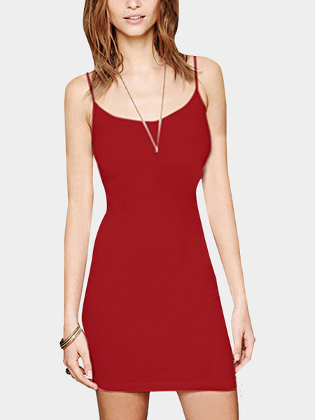 Yoins Red Cami Bodycon Mini Dress