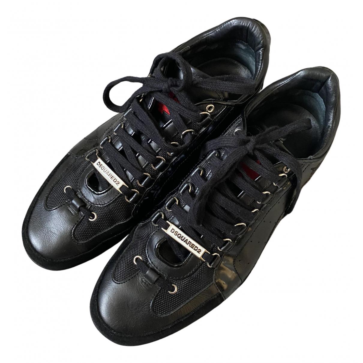 Dsquared2 - Baskets 551 pour homme en cuir - noir