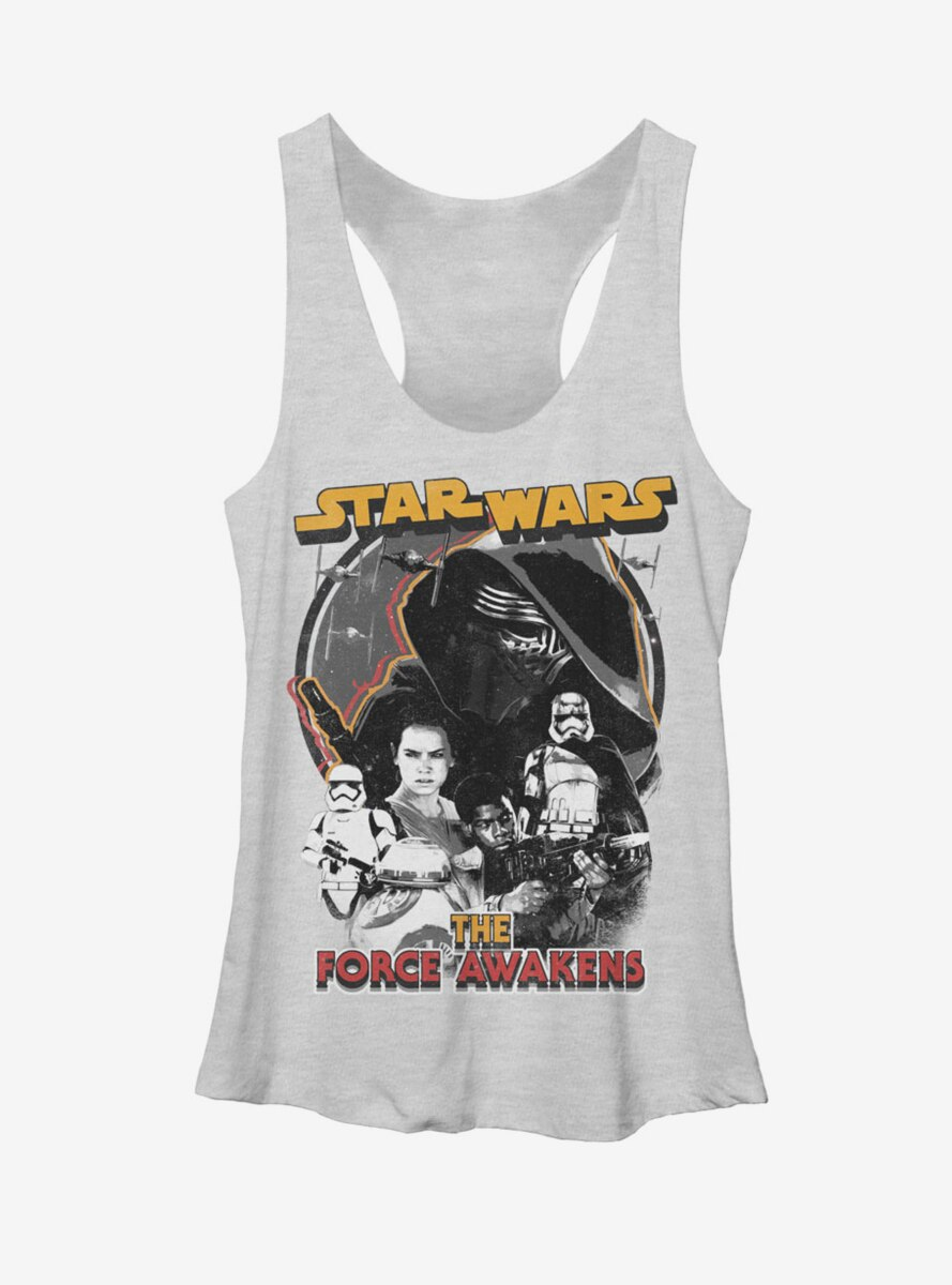 Star Wars The Force Awakens Distressed Womens Tank