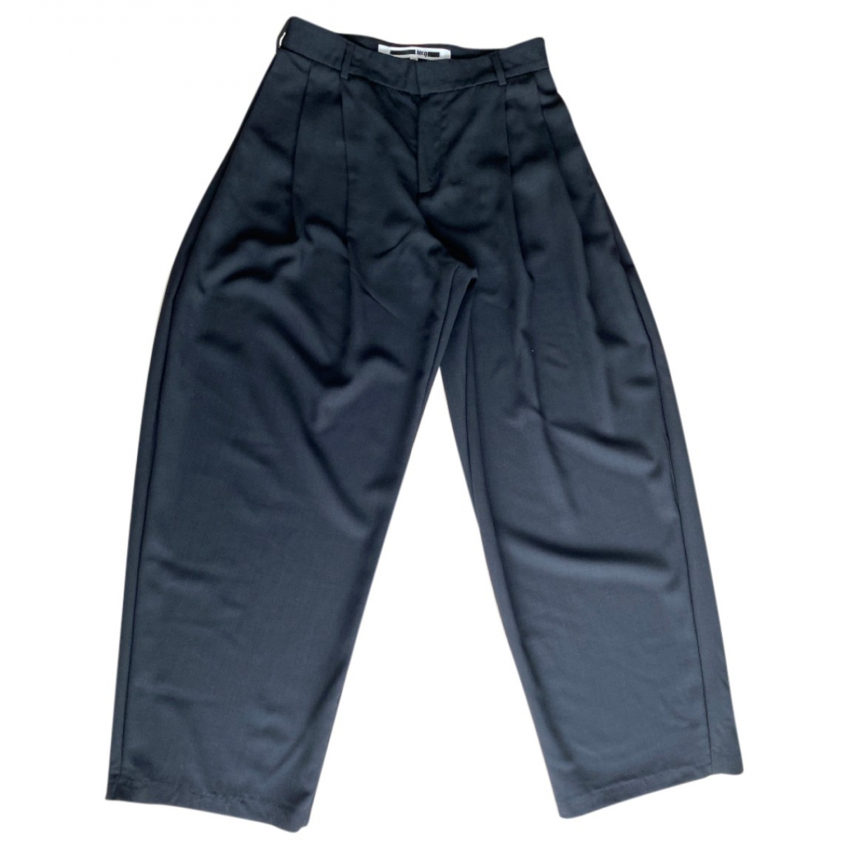 Mcq N Black Wool Trousers for Men 40 FR
