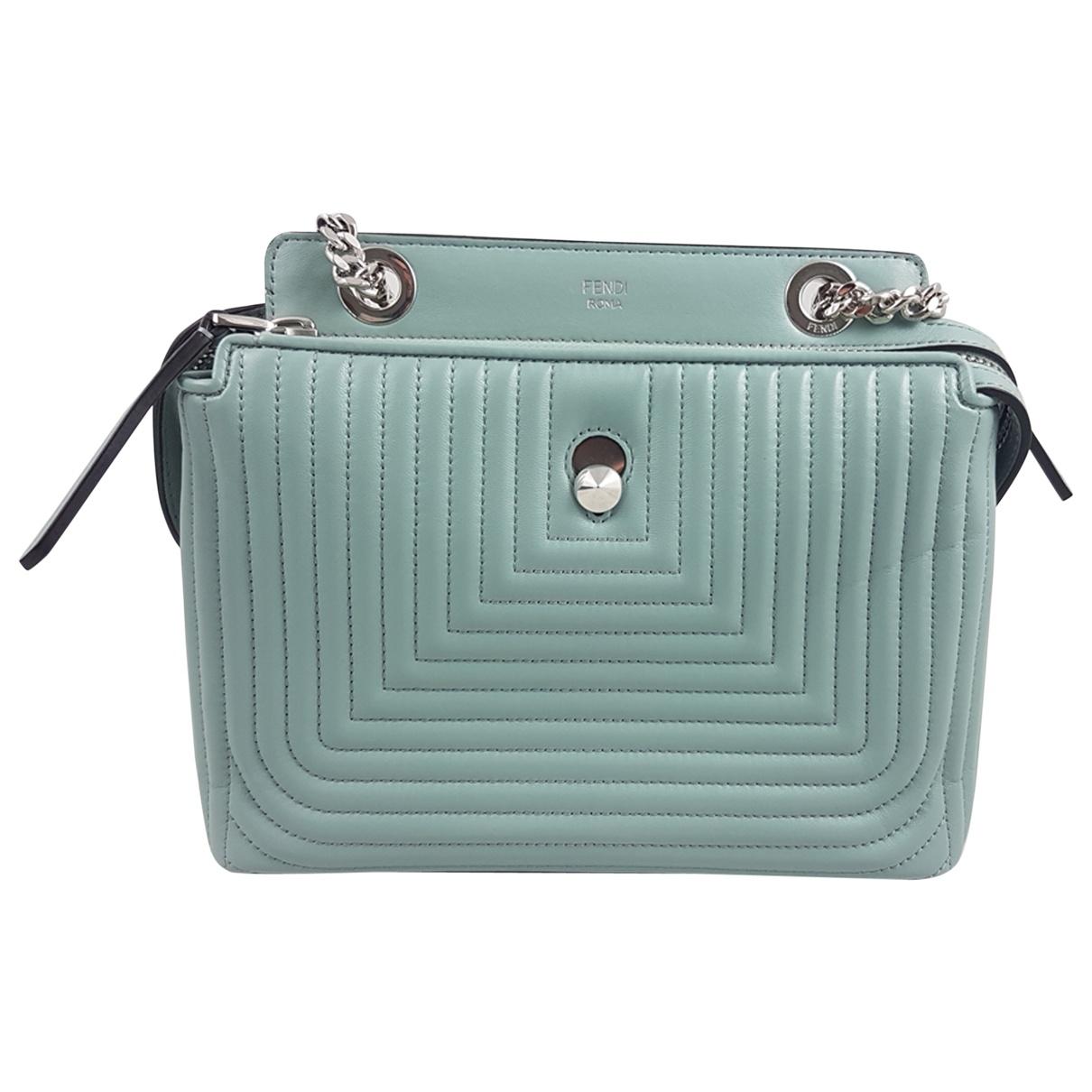 Fendi Dot Com Handtasche in  Blau / Gruen Leder
