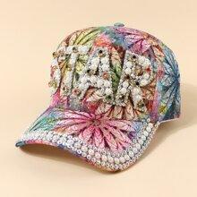 Baseball Hut mit Strass & Kunstperlen Dekor