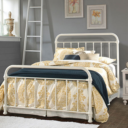 Kirkland Metal Bed, One Size , White