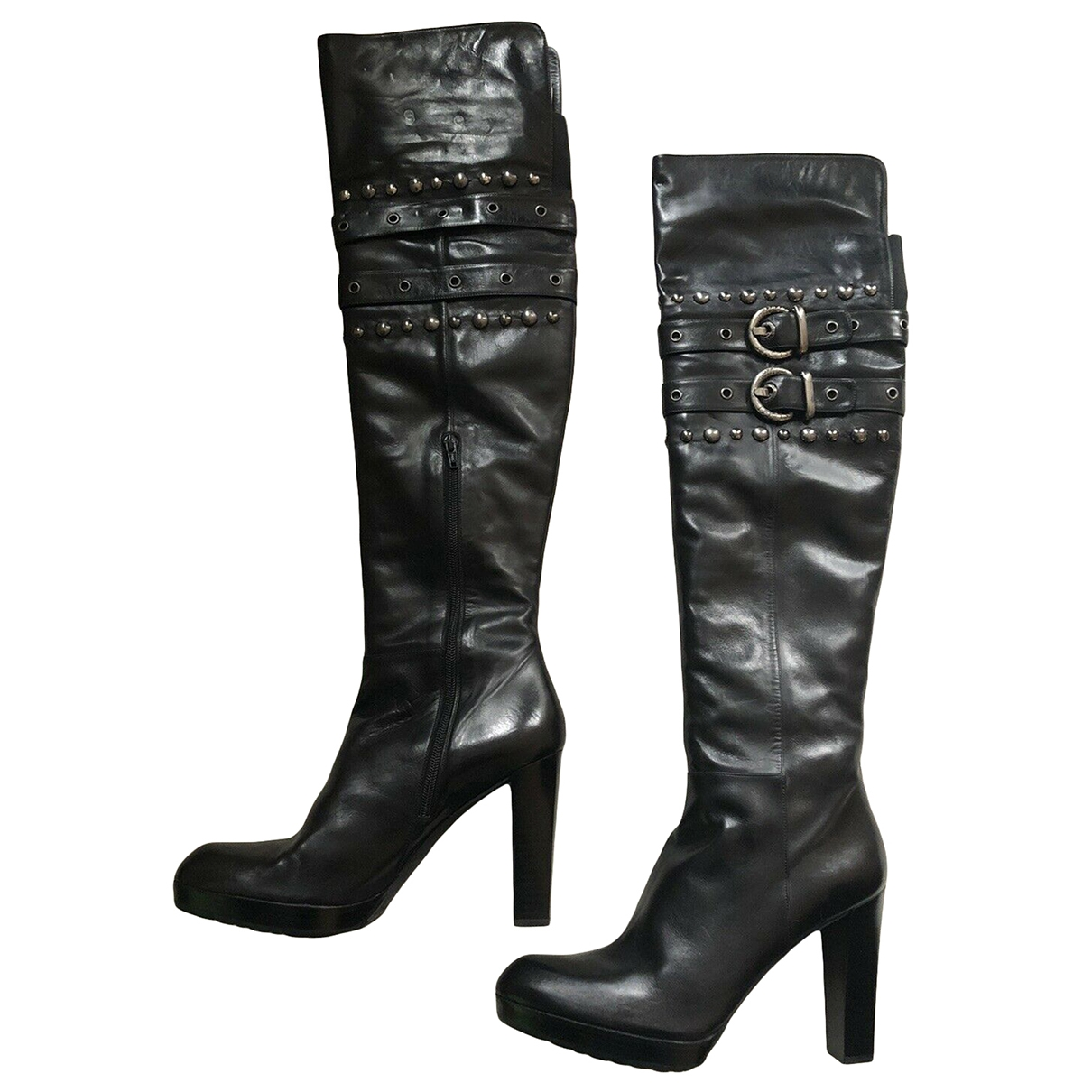 Stuart Weitzman \N Black Leather Boots for Women 11.5 US