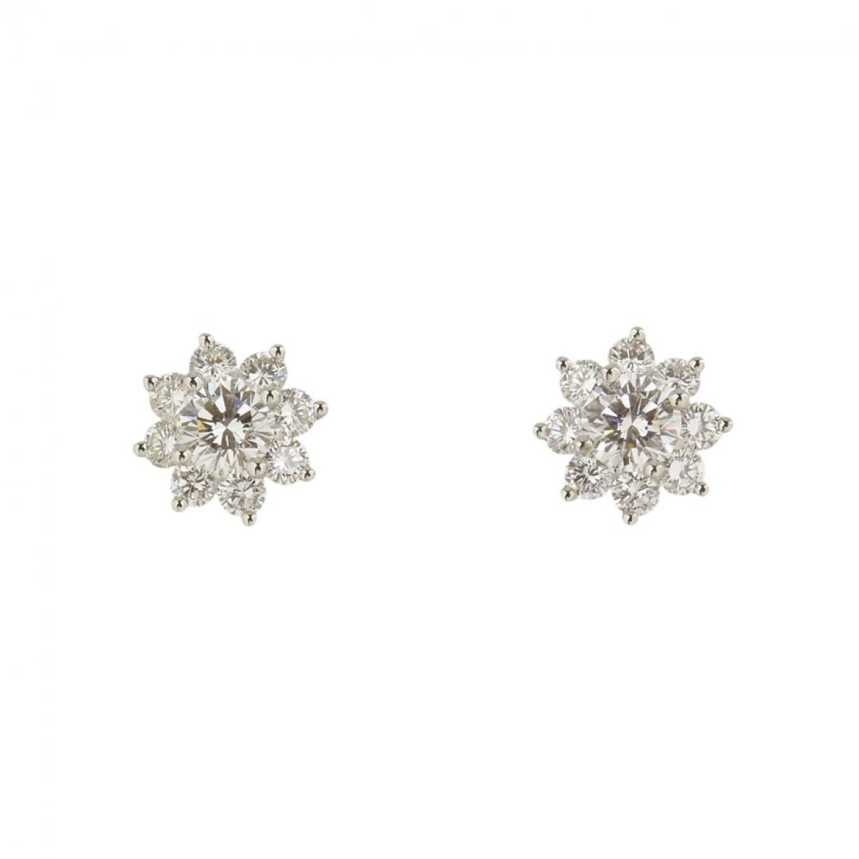 Tiffany & Co - Boucles doreilles   pour femme en platine