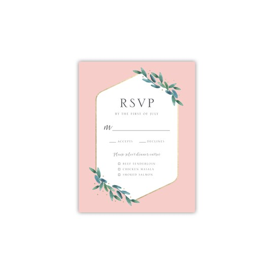 Style Me Pretty Personalized Polished Flora RSVP   Michaels®