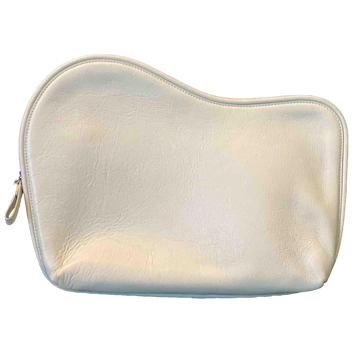 Cos - Pochette   pour femme en cuir - blanc