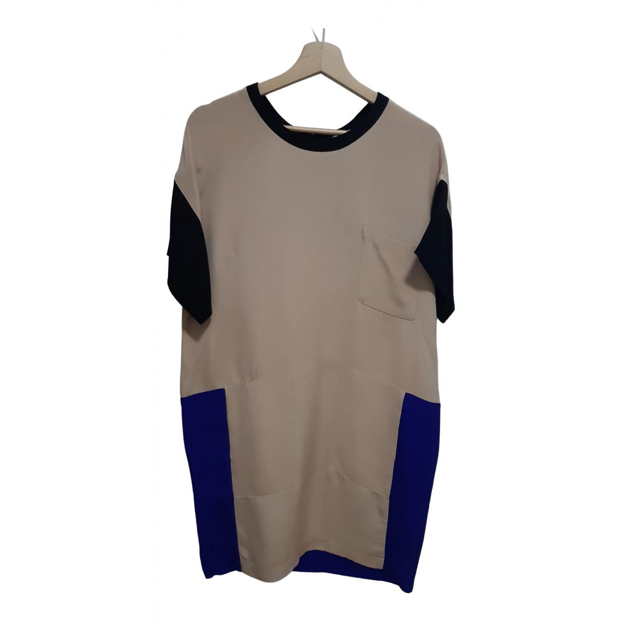 Cedric Charlier - Robe   pour femme en soie - multicolore
