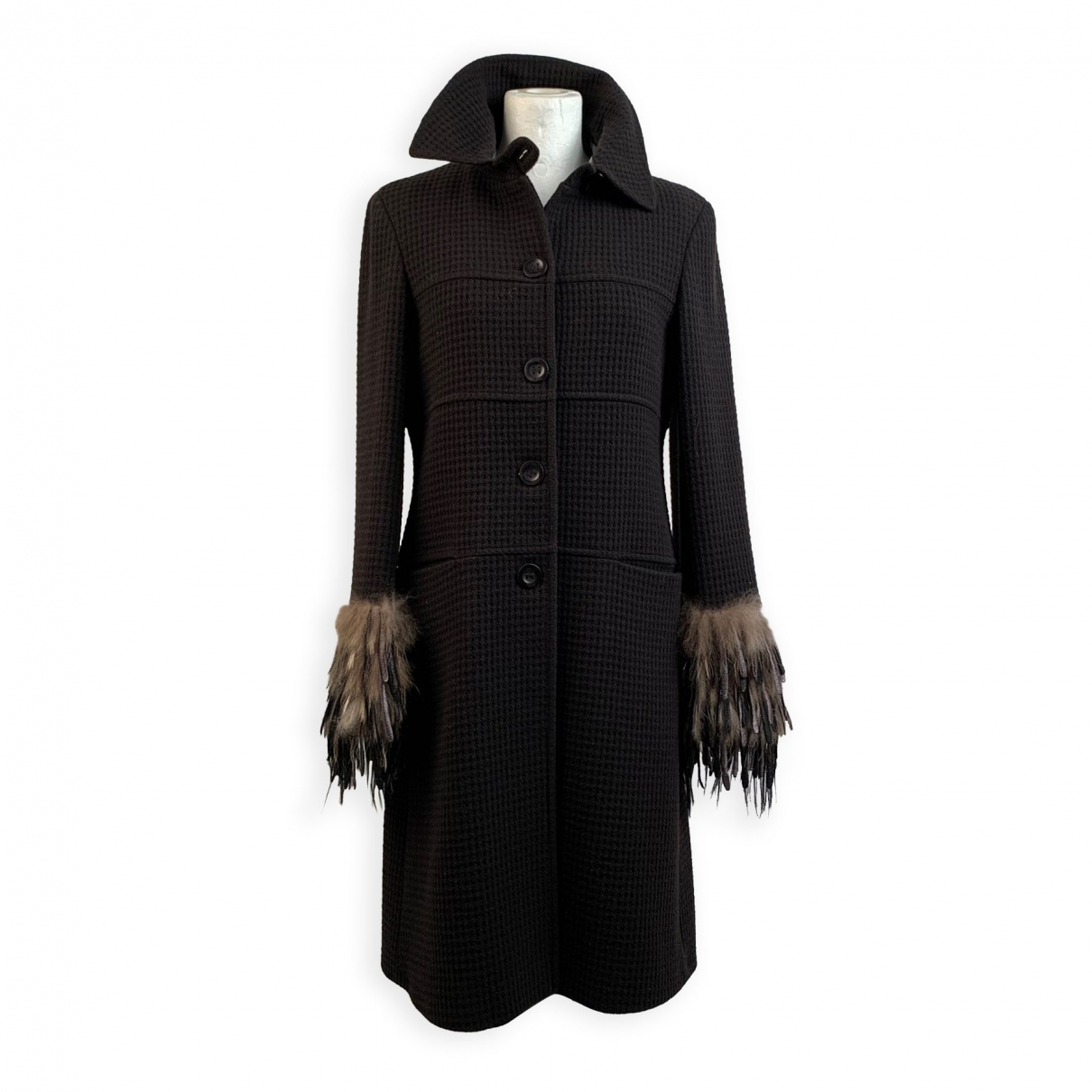 Fendi - Manteau   pour femme en cachemire - marron