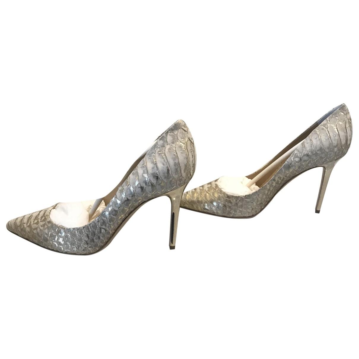 Rodo - Escarpins   pour femme en python - metallise