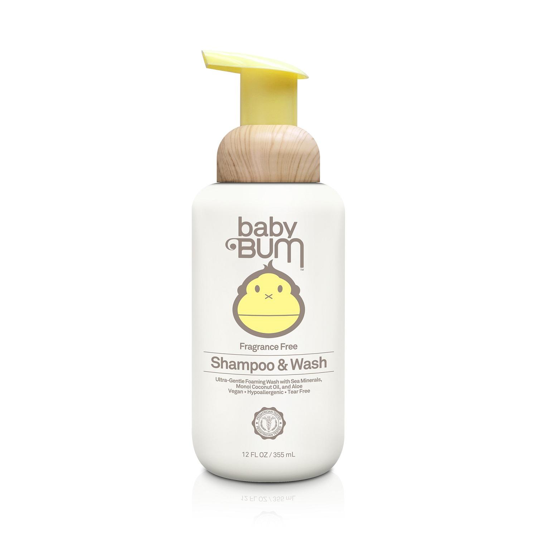 Sun Bum baby Bum Shampoo & Wash [Fragrance Free] (12.0 fl oz / 355 ml)