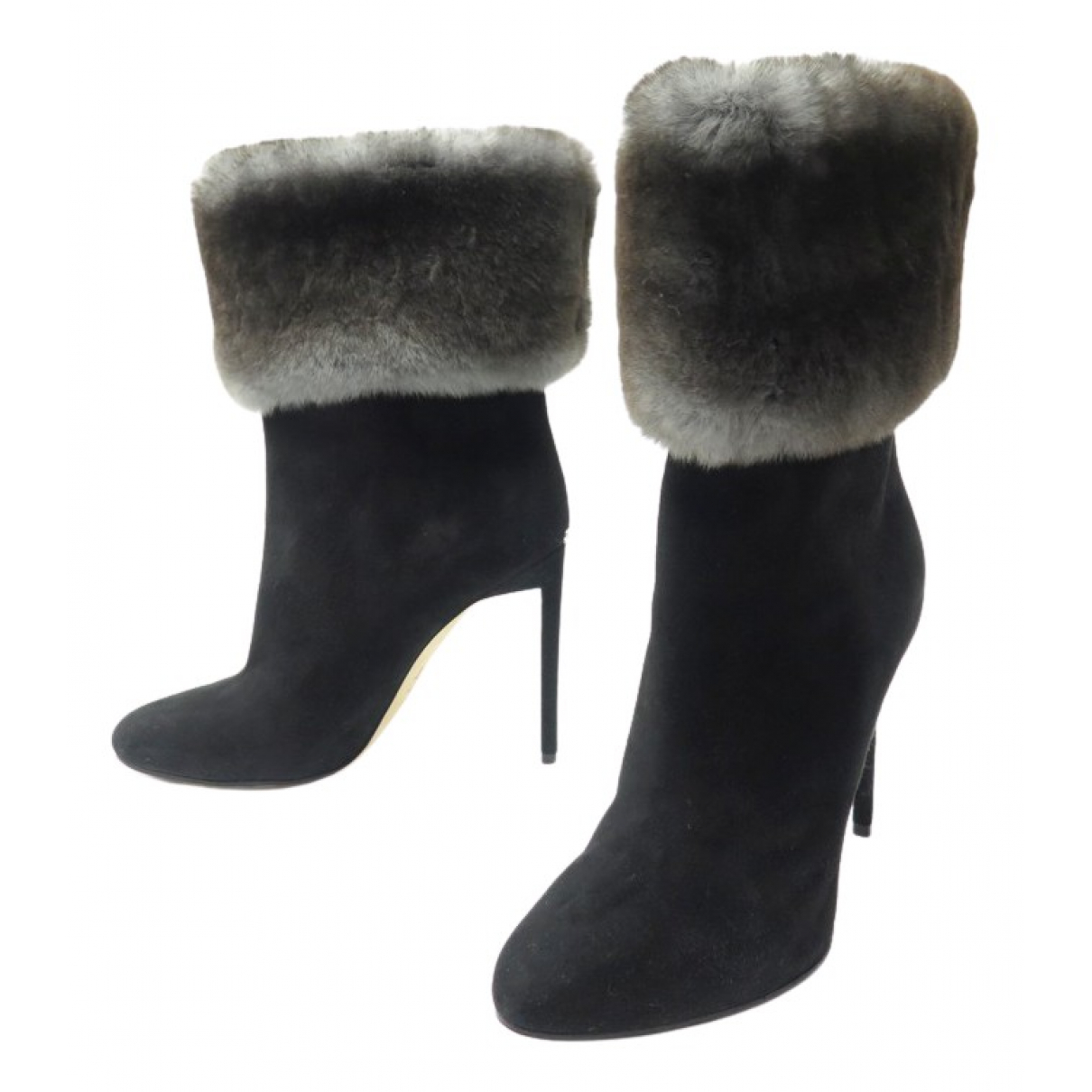 Dior N Black Suede Ankle boots for Women 39.5 EU