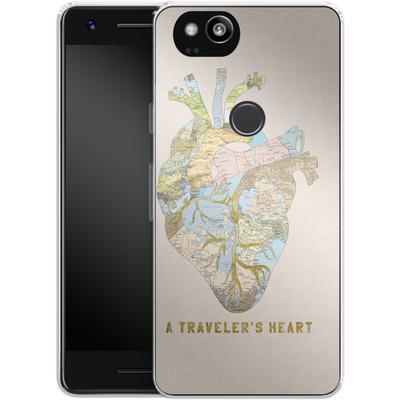 Google Pixel 2 Silikon Handyhuelle - A Travelers Heart von Bianca Green