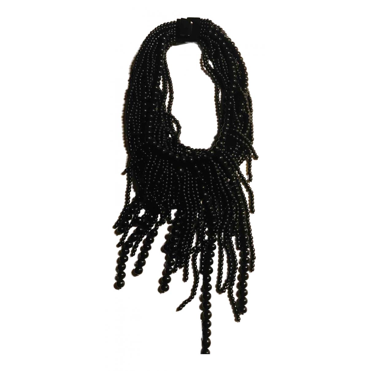 Monies - Collier   pour femme en corne - noir