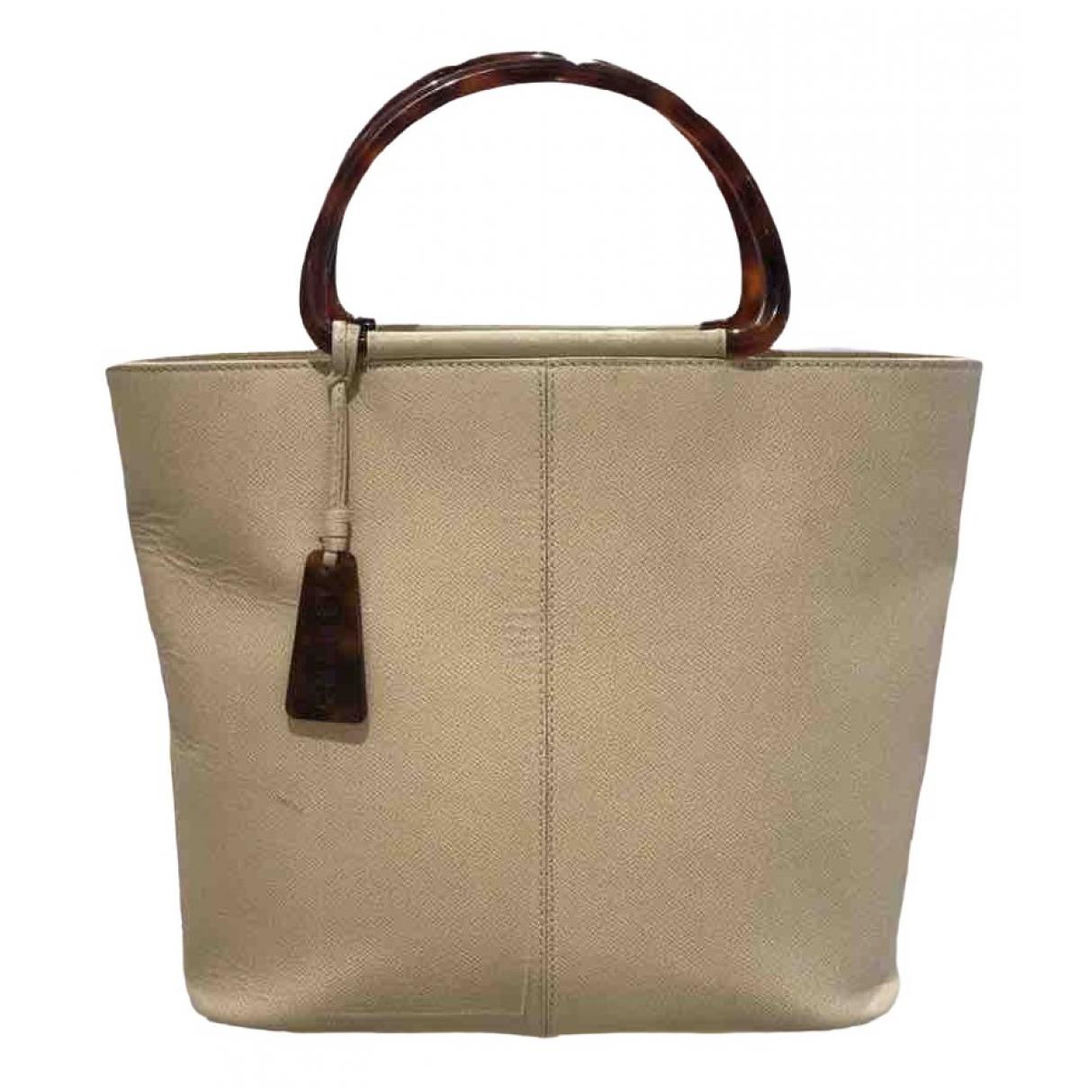 Chanel \N Beige Leather handbag for Women \N
