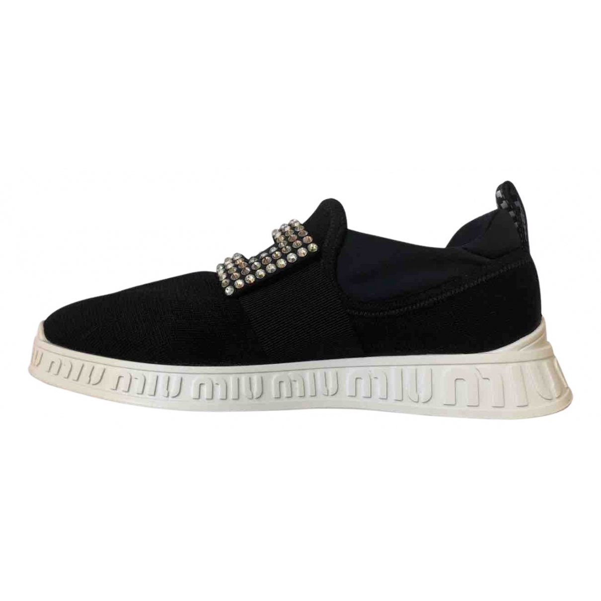 Miu Miu \N Sneakers in  Schwarz Leder