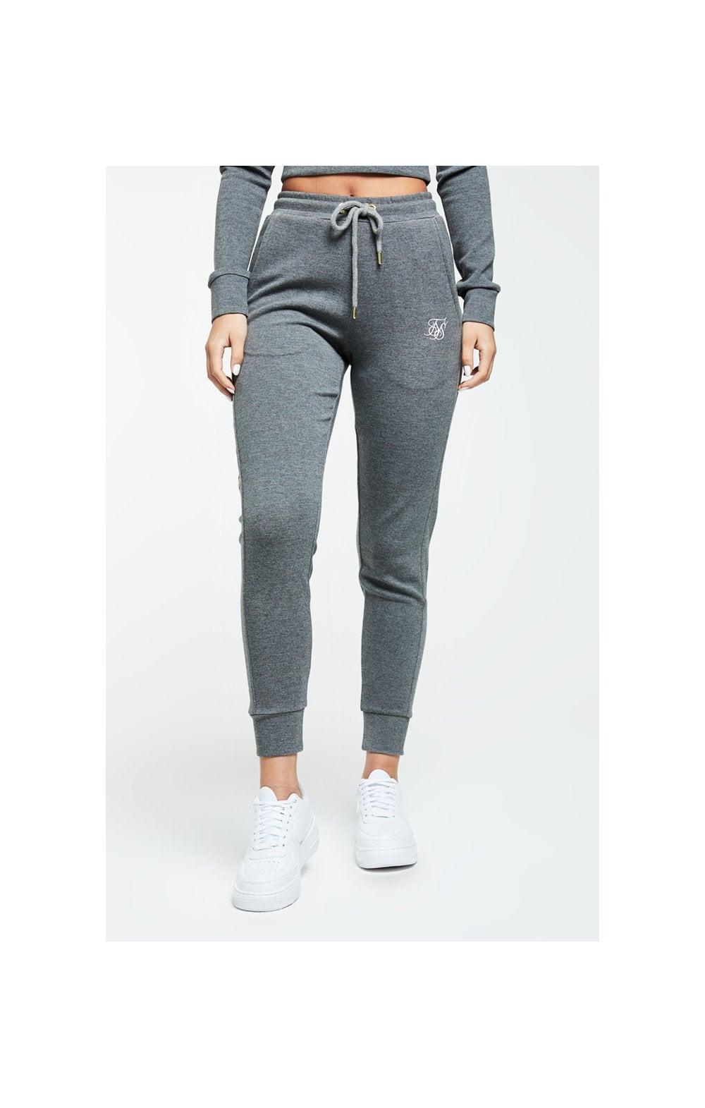 SikSilk Colour Signature Track Pants - Dark Grey Marl WOMEN SIZES: 6-XXS