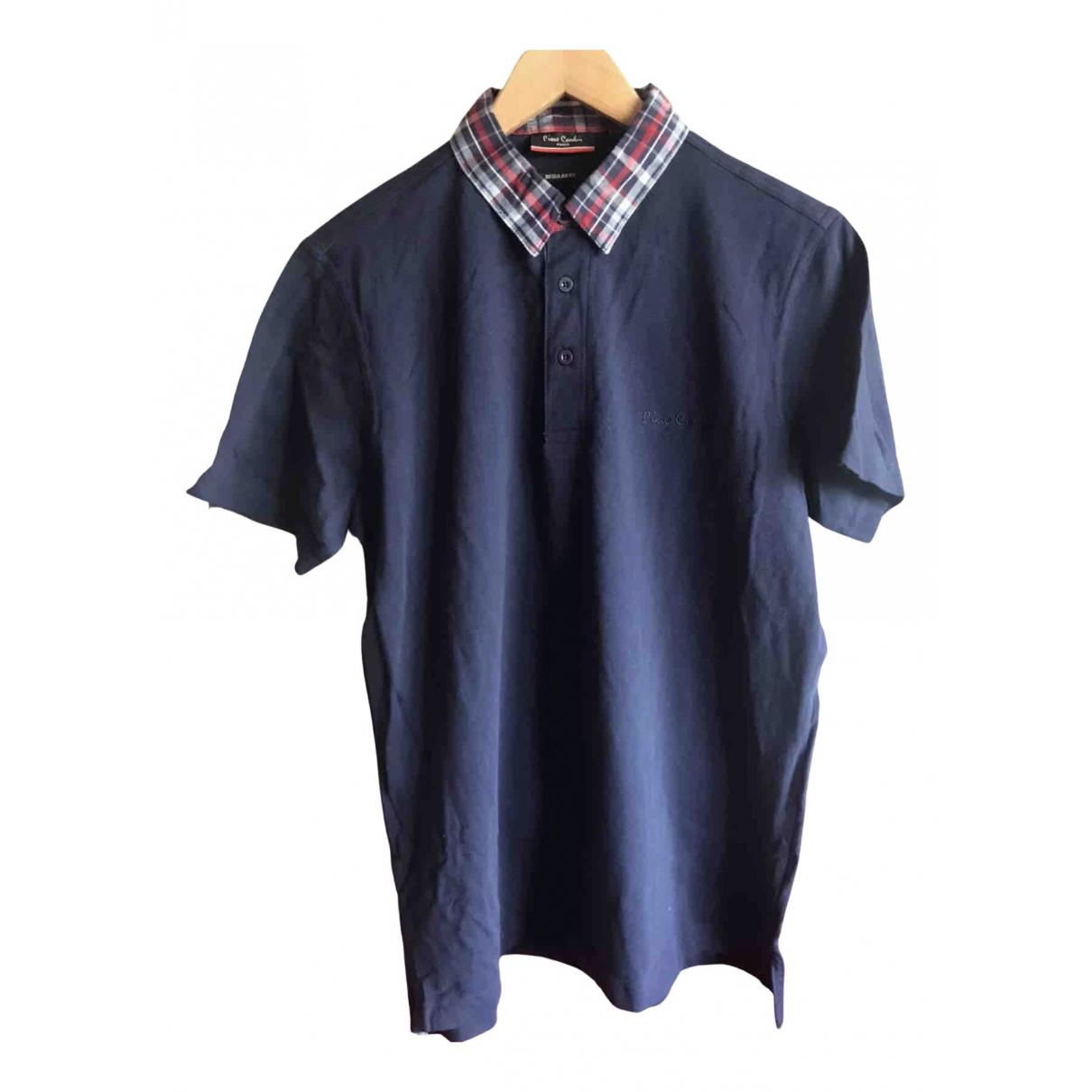 Pierre Cardin - Polos   pour homme en coton - bleu