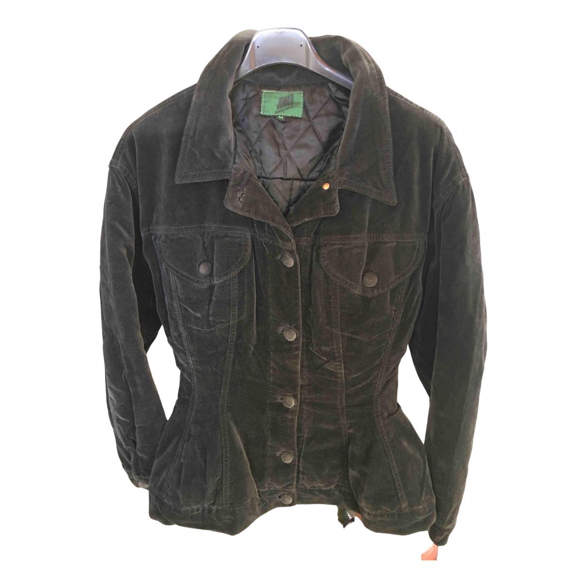 Jean Paul Gaultier \N Black Velvet jacket for Women 44 IT