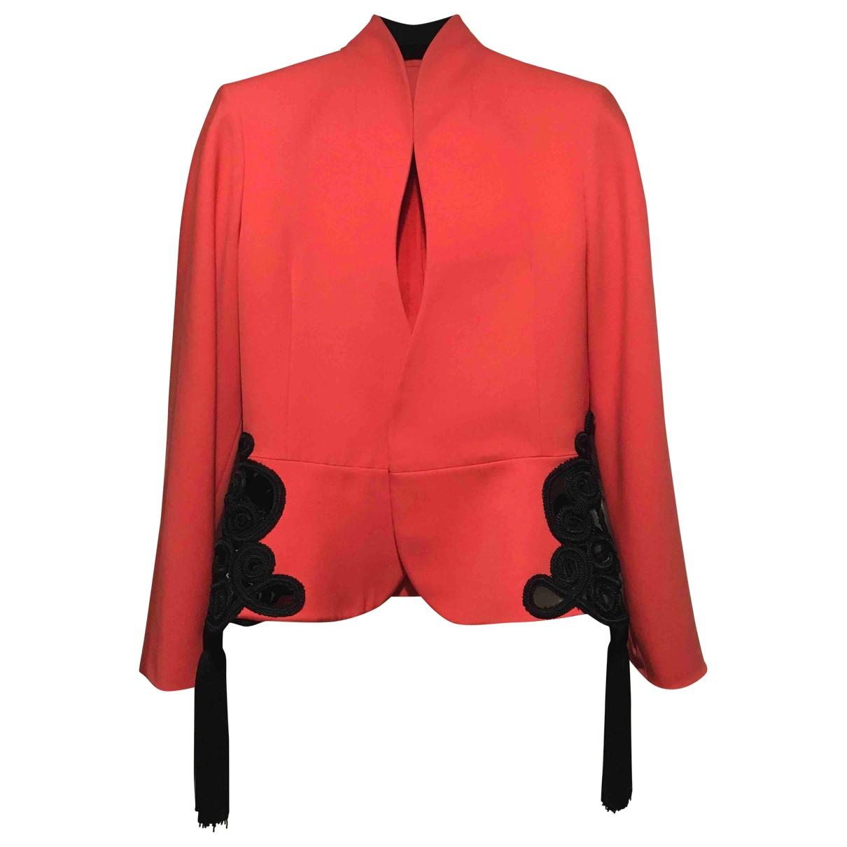 Dior - Veste   pour femme en laine - rouge