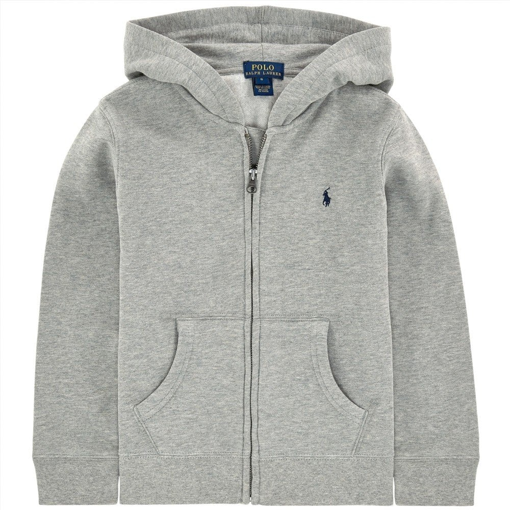 Ralph Lauren Kids Logo Hoodie Grey Colour: GREY, Size: 10-12 YEARS