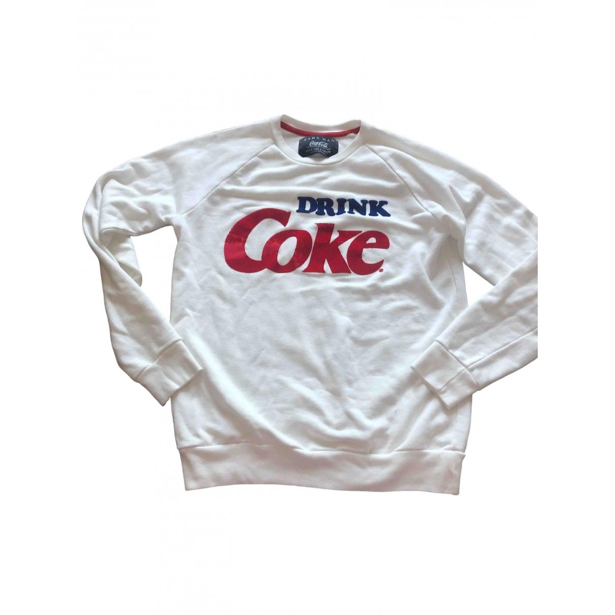 Zara \N Pullover.Westen.Sweatshirts  in  Weiss Baumwolle