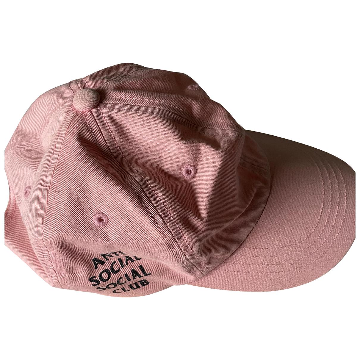 Anti Social Social Club \N Pink Cotton hat & pull on hat for Men S International