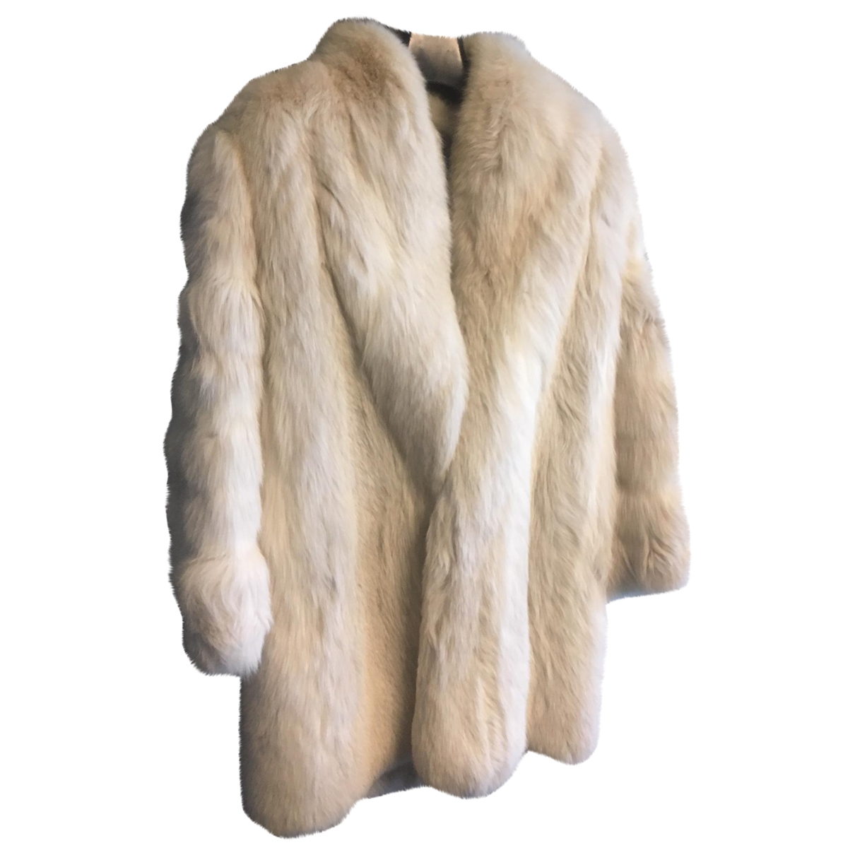Yves Saint Laurent - Manteau   pour femme en renard - blanc