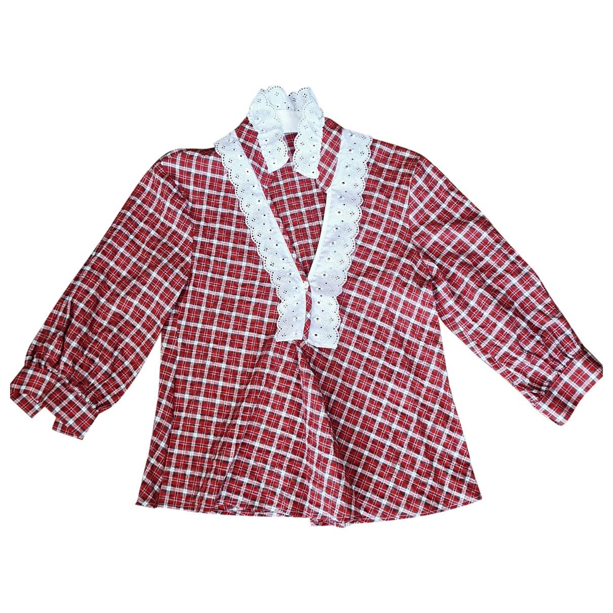Sandro - Top Spring Summer 2019 pour femme en coton - rouge