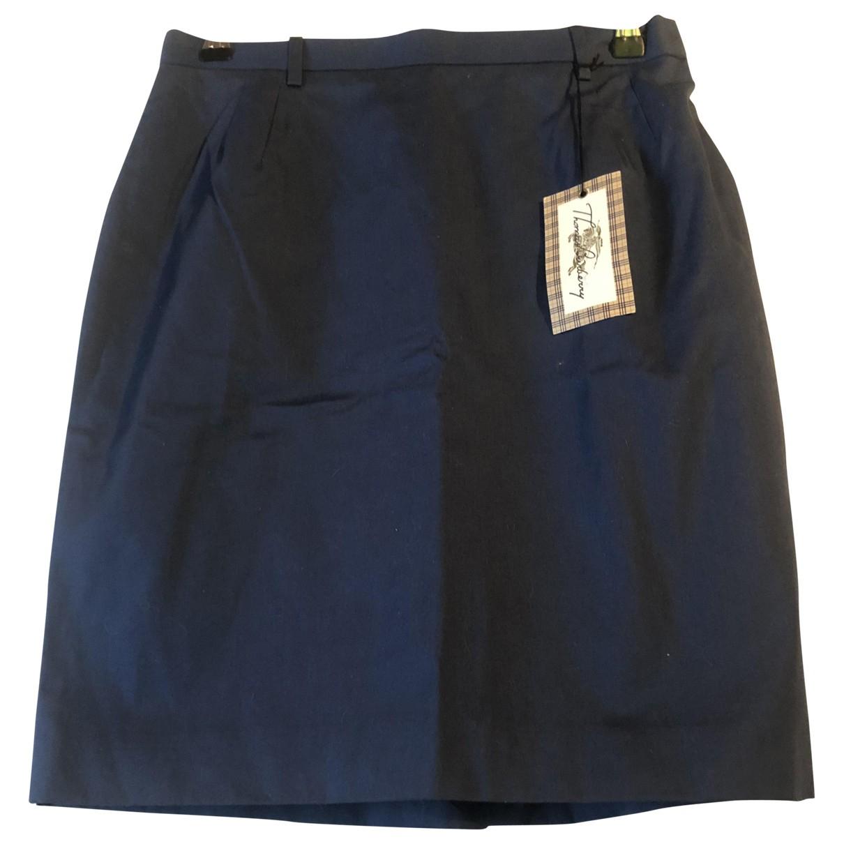 Burberry - Jupe   pour femme en coton - bleu