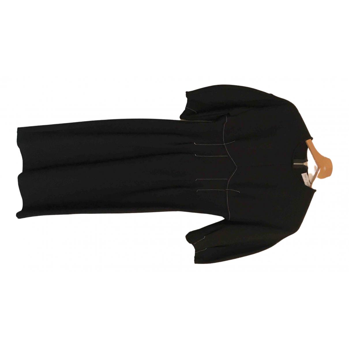 Weili Zheng \N Kleid in  Schwarz Baumwolle
