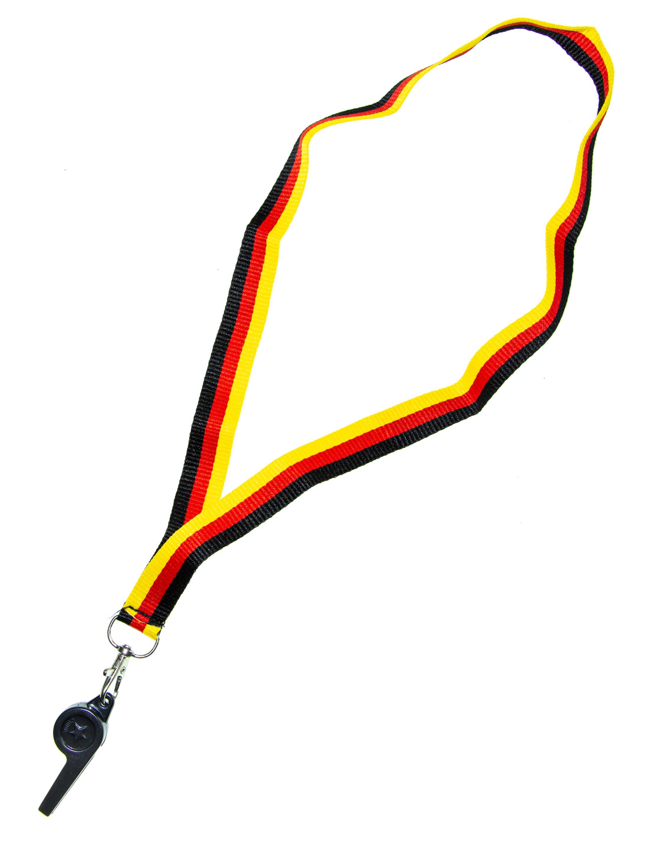 Trillerpfeife Deutschlandband Farbe: schwarz/rot/gold
