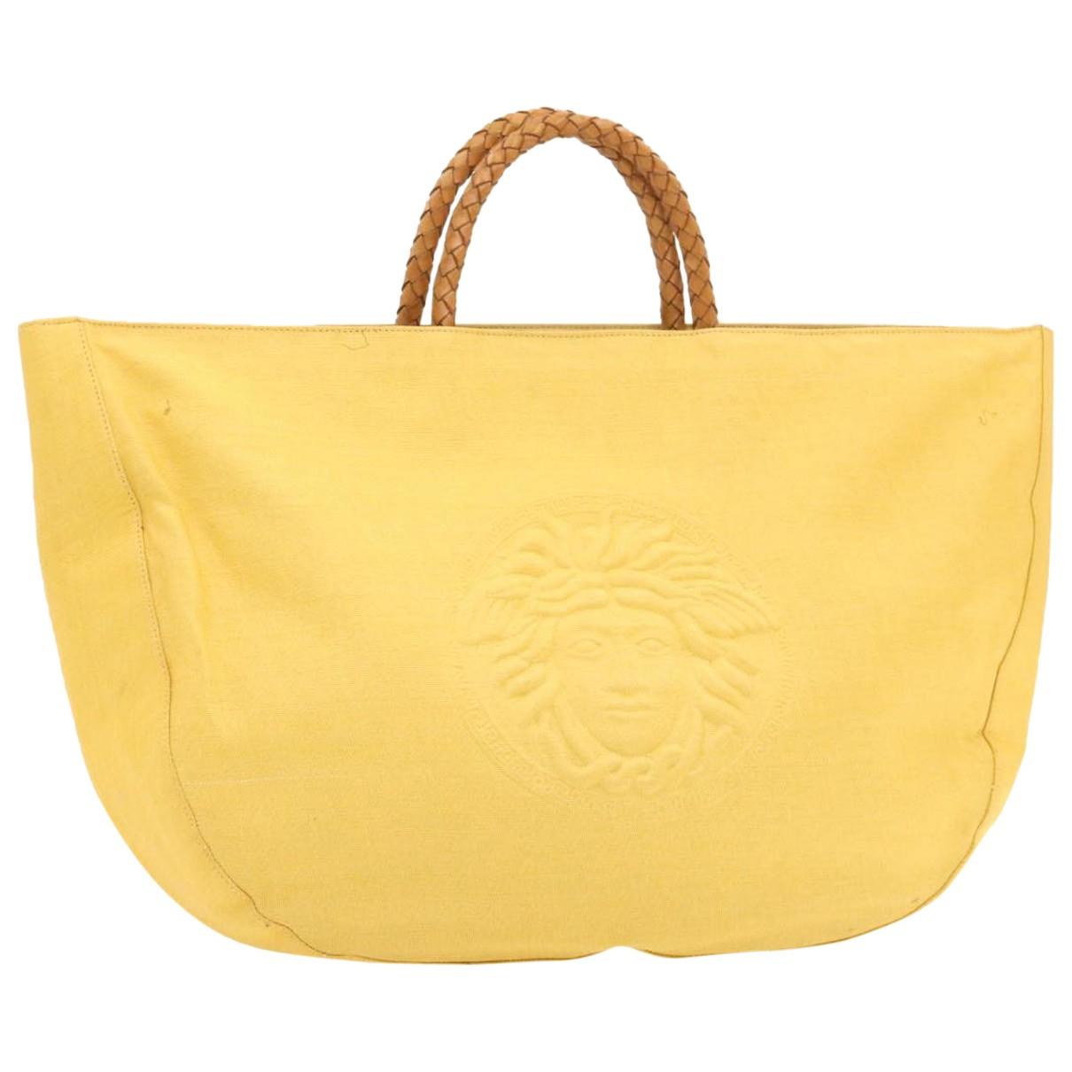 Gianni Versace N Yellow Cloth handbag for Women N