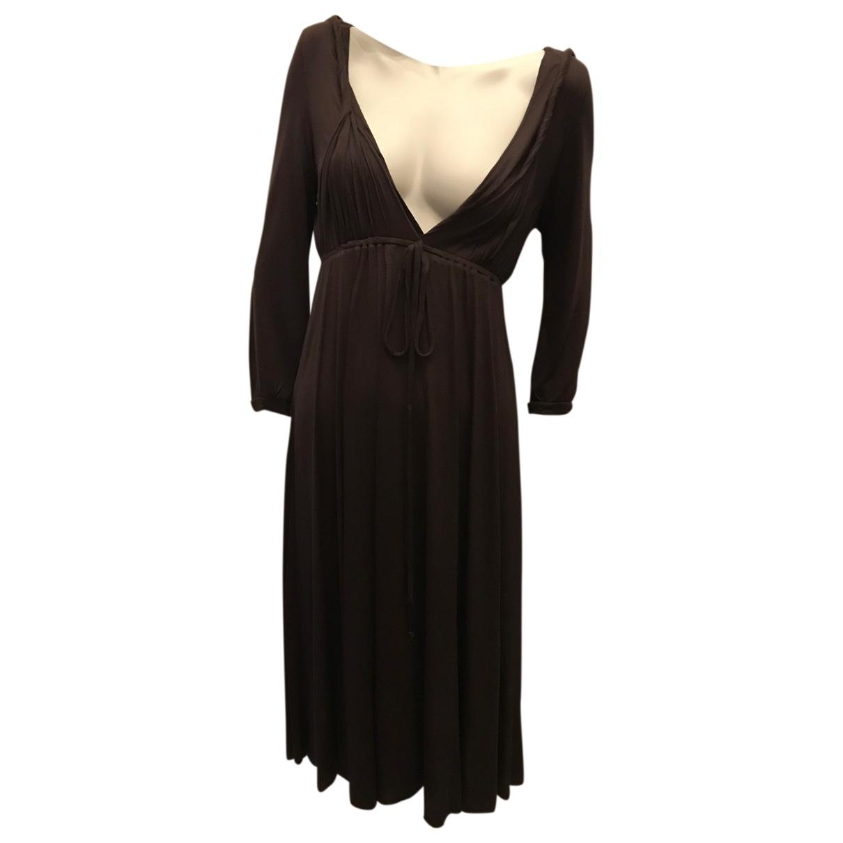 Maje - Robe   pour femme en coton - marron