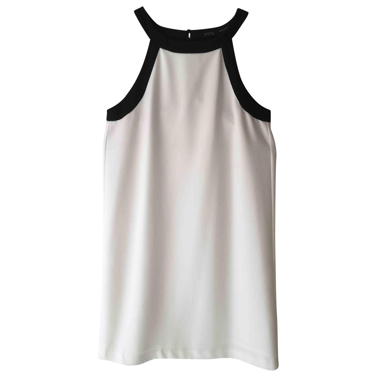 Zara \N Kleid in  Weiss Synthetik