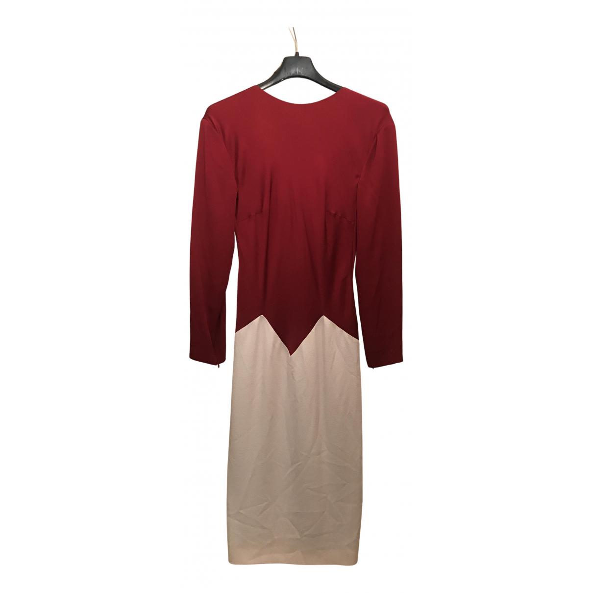 Vionnet \N Kleid in  Rot Seide
