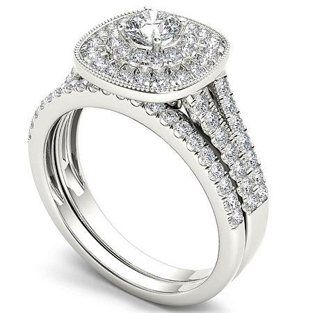 Womens 3/4 CT. T.W. Genuine White Diamond 14K Gold Bridal Set, 7 1/2 , Beige