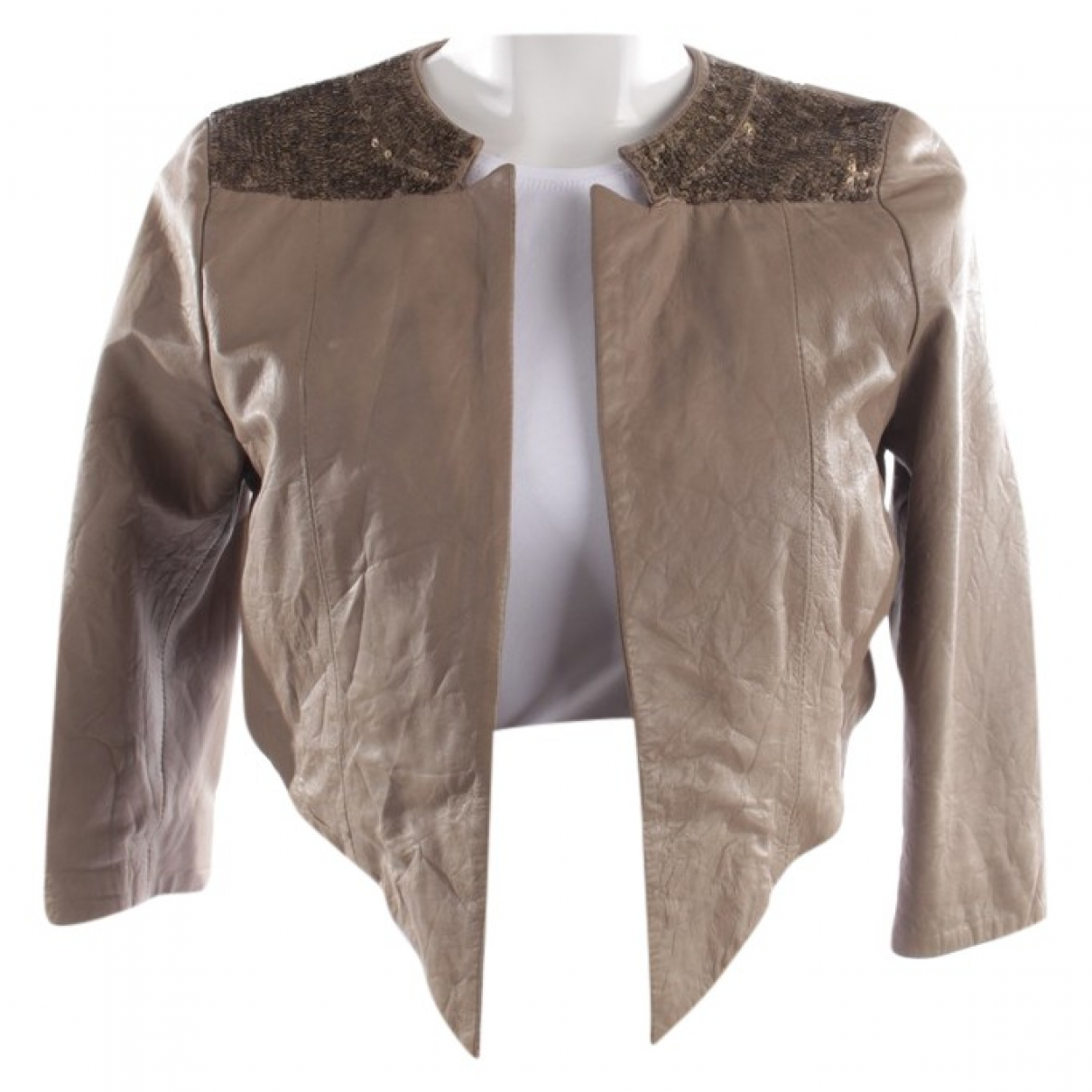 Day Birger & Mikkelsen \N Brown Leather jacket for Women 36 FR
