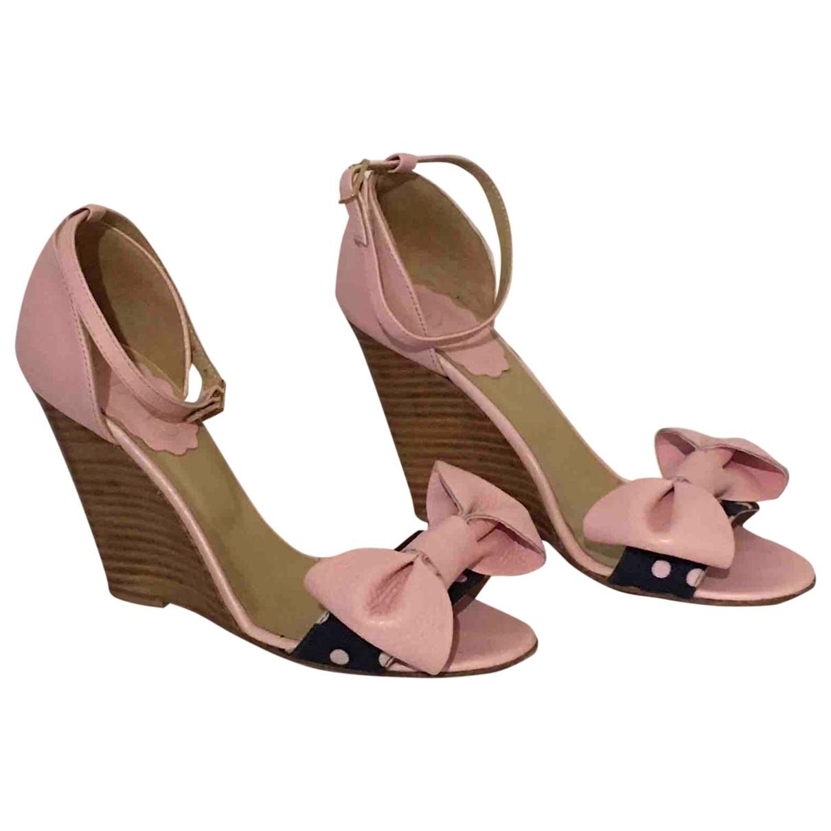 Red Valentino Garavani - Sandales   pour femme en cuir - rose