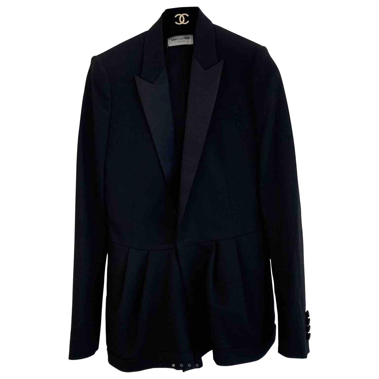 Saint Laurent - Combinaison   pour femme en laine - noir