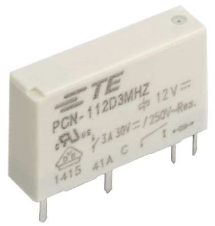 TE Connectivity , 12V dc Coil Non-Latching Relay SPNO, 3A Switching Current PCB Mount Single Pole